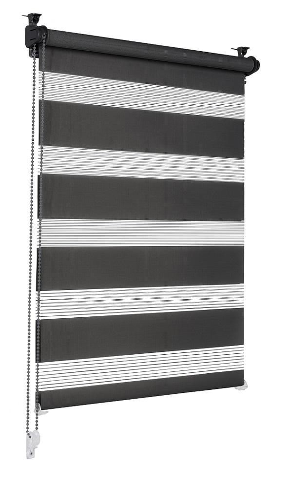 Sonello Doppelrollo Klemmfix ohne Bohren schwarz