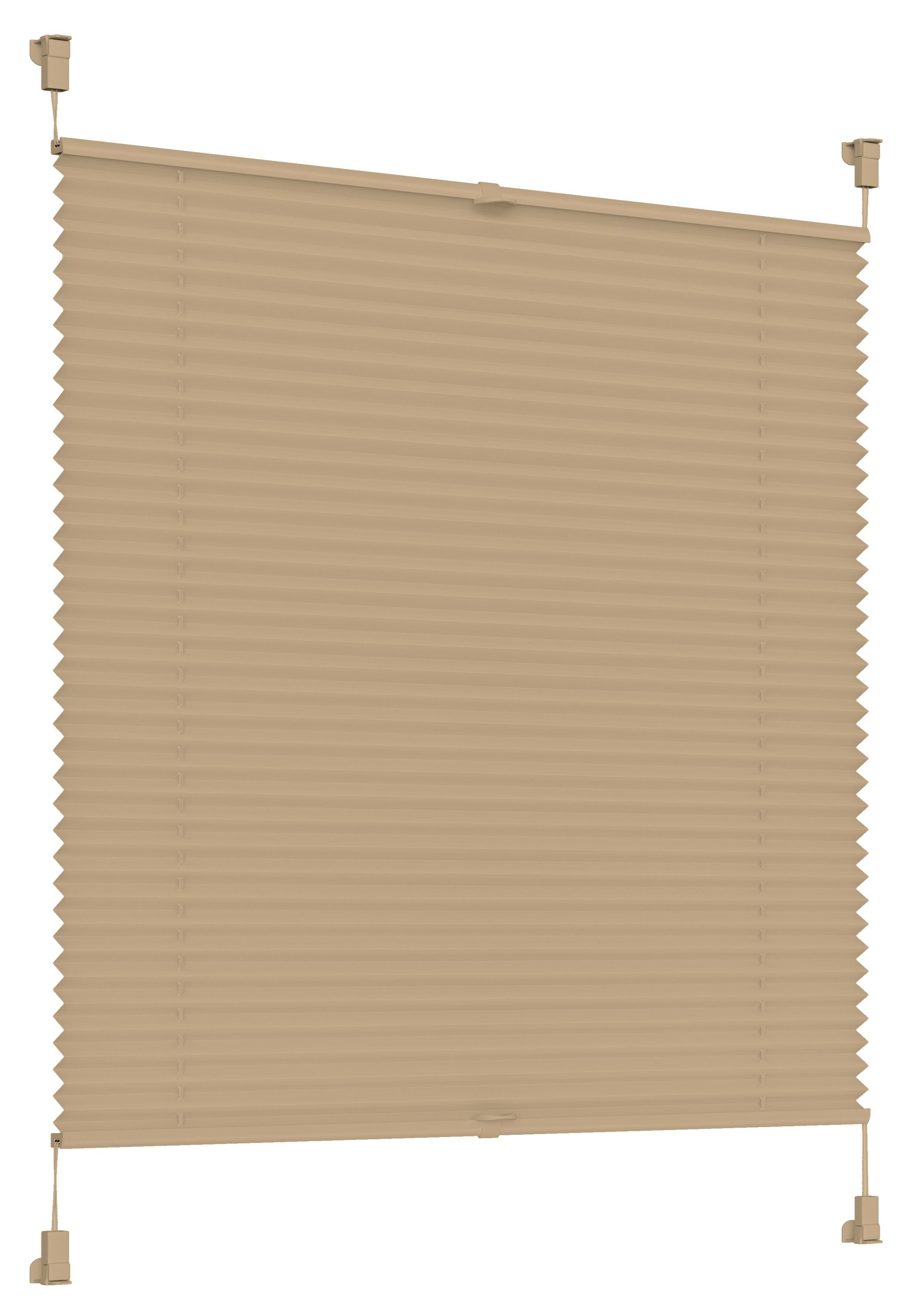Sonello Plissees beige, 30-105cm Breite, 100-200cm Länge