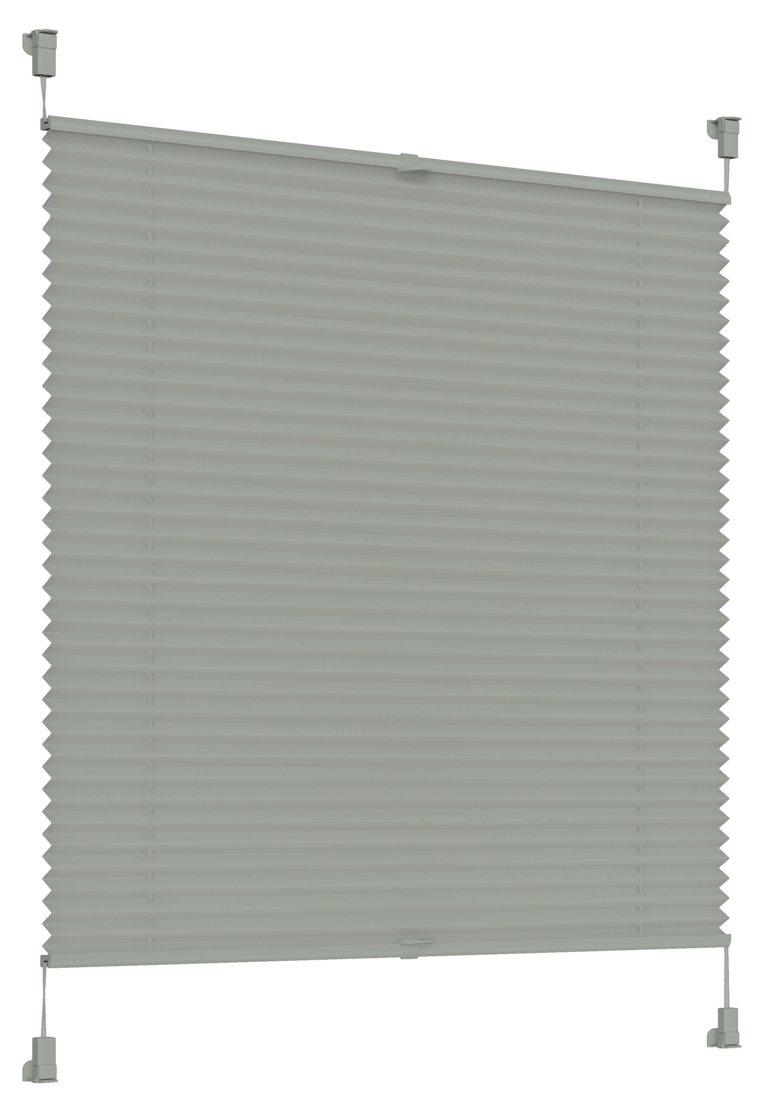 Sonello Plissees grau in 30-105cm Breite und 100-200cm Länge