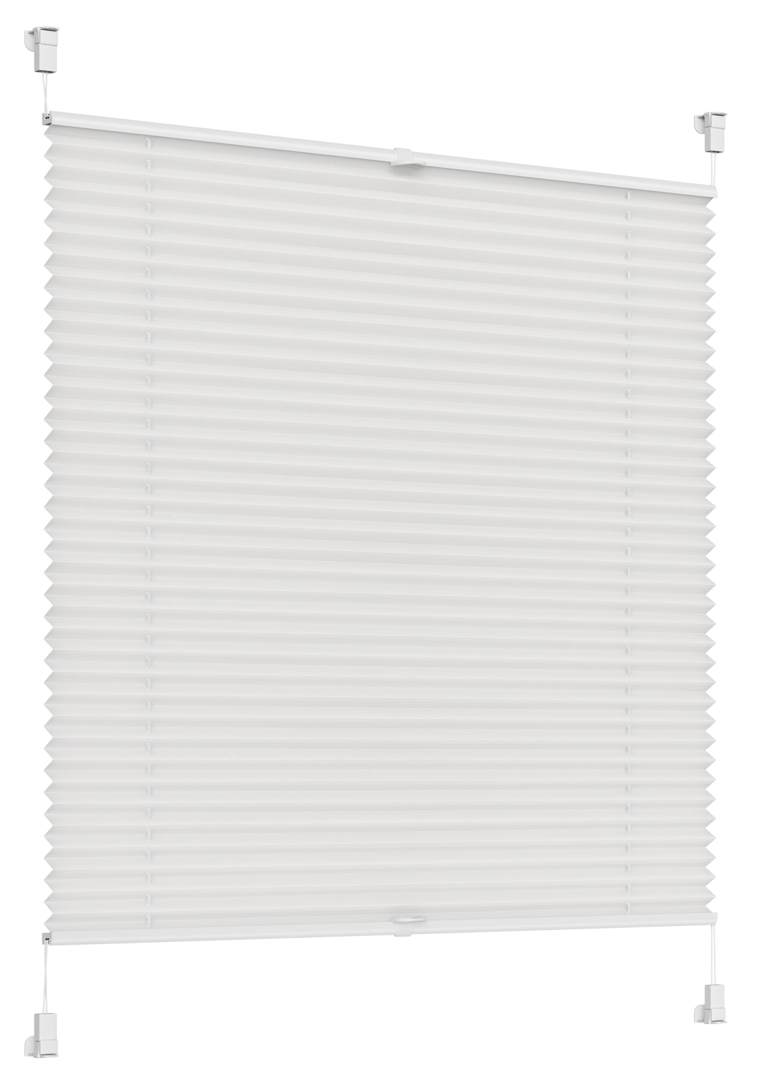 Sonello Plissees weiß in 30-105cm Breite und 100-200cm Länge