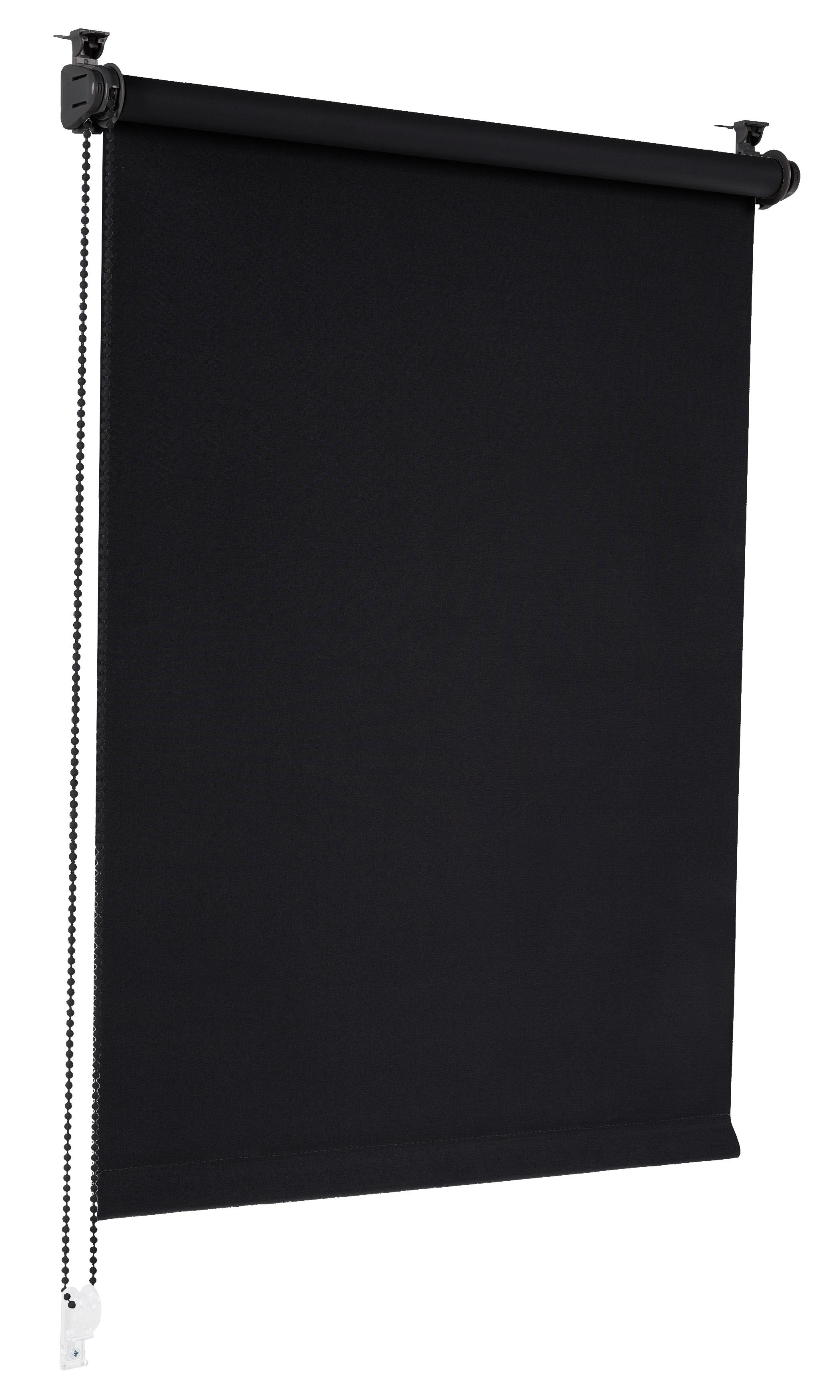 Sonello Verdunkelungsrollo Klemmfix ohne Bohren schwarz